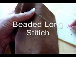 beading lesson beads laying flat on fabric youtube