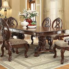 Two Pedestal Dining Table Rovledo Double Pedestal Dining Room Set Formal Dining Sets