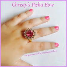 baby girl rings images Little girl pink crystal ringlittle girl crystal flower etsy jpg