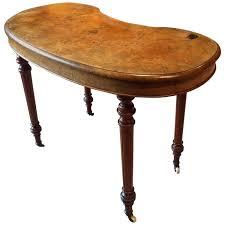 kidney shaped table for sale antique edwardian walnut kidney shaped writing desk table desks