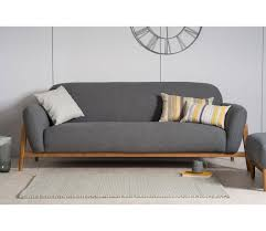 Grey Modern Sofa Modern 3 Seater Sofa Grey
