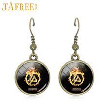 cool dangle earrings tafree style linkin park drop earrings fashion cool dangle