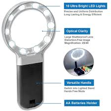 large magnifying glass with light stanz tm led lighted 2x 4x folding magnifying glass with stand