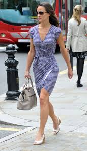 pippa middleton wearing a form fitting dress out shopping in