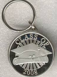 graduation keychain 2010 graduation silver and nickel gifts