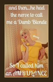 Dumb Blonde Memes - and then he had the nerve to call me a dumb blonde so i called