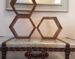 hexagon shelves etsy