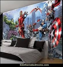 Captain America Bedroom by Marvel Avengers Assemble Comic Wallpaper Mural Wyatt