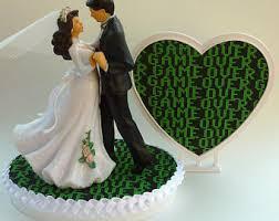 wedding cake topper golf fan golfing groom golfer shoes ball
