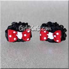 minnie mouse hair bow mini minnie mouse ears hair bows girly kurlz