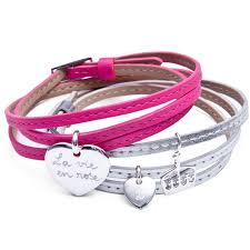 girls leather bracelet images Personalised ladies and girls leather wrap charm bracelet jpg