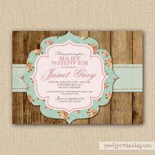 rustic shabby chic baby shower invitations diy printable baby