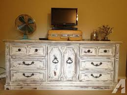 solid wood drexel long dresser white shabby chic for sale in