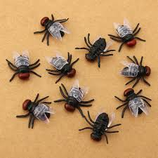 10pcs house fly bug insect toy halloween props joke prank funny