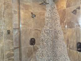 river rock bathroom ideas small bathroom ideas travatine tile river rock design