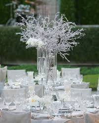 winter wedding centerpieces winter wedding ideas birch bark details branch décor inside