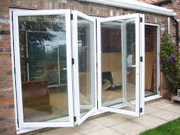 Bifold Exterior Doors Prices by Kitchen White Aluminum Framed Folding Patio Doors Ideas The