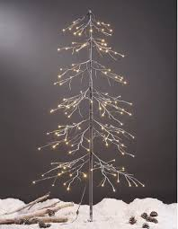 display tree medium lighted white birch ornament trees