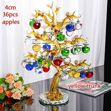 apple tree ornaments 36pcs hanging apples glass fengshui