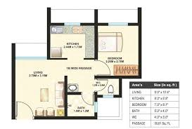 1 bhk floor plan 1 bhk 437 sq ft apartment for sale in dosti desire at rs 9000 0