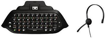xbox 1 black friday amazon amazon com xbox one chatpad chat headset plugs directly into