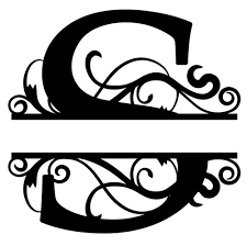 monogram letter s monogram letter die cut vinyl decal pv1320