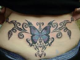 unique lower back tattoos butterfly designs for