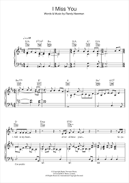 Three Blind Mice Piano Notes I Miss You Sheet Music By Randy Newman Piano Vocal U0026 Guitar