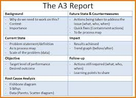 a3 report template a3 template a3 thinking process a great problem solving tool