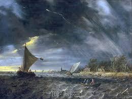 the thunderstorm jan van goyen painting reproduction 3215