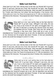 worksheet conjunctions story