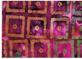 cotton quilt fabric batik block print in sunset auntie chris