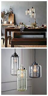 drum pendant light dining room hanging over table lighting house