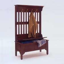 Cherry Home Decor by Captivating Storage Bench With Coat Rack For Home Decor