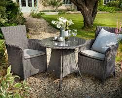 hartman appleton bistro garden furniture set in slate stone