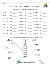 Fraction Worksheets Grade 5 Rounding Numbers Worksheets To The Nearest 100