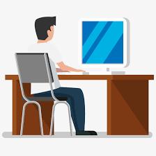 bureau de dessin des personnages de dessins animés de l ordinateur de bureau