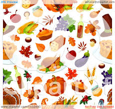 clipart of a seamless patterned thanksgiving background royalty
