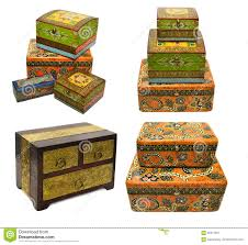 set with indian ornamental boxes 2 stock image image 58413231