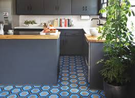 Floor Tiles Kitchen Ideas Hexagon Tiles For Your Kitchen Floor