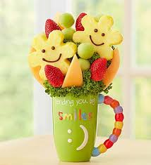 fruit bouqet mugable sweet and smiley by fruit bouquets