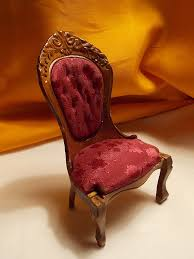 Victorian Upholstered Chair Dollhouse Chair Victorian Upholstered Chair By Louisianaminis