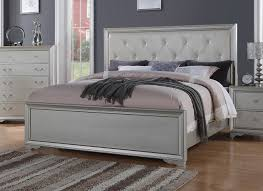 King Bed Leather Headboard by Chic Contemporary King Bed With Rhinestone Leather Headboard
