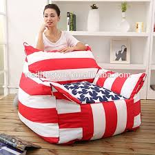fashionable flag giant bean bag bed big pillow outdoor waterproof