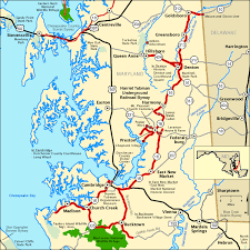 maryland byways map harriet tubman underground railroad byway map america s byways