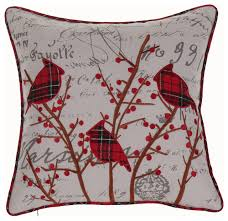 cardinals pillow contemporary decorative pillows by