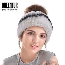 thick headbands winter fur headbands for women rabbit fur scarf thick warm