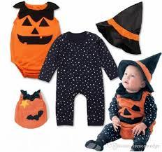 Honey Bee Halloween Costume 2017 Children U0027s Long Sleeves Romper Pumpkin Vest Hat Infant