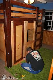 diy fort bed minecraft bed the rustic willow