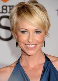 short hairstyles with side swept bangs for women over 50 chic short sleek haircut with side swept bangs josie bissett s
